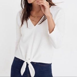 Old Navy Tie Front Cream Blouse 329